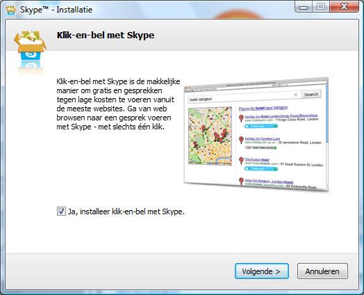 Skype installeren stap 7