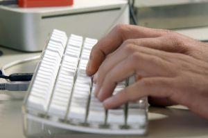 schrijven op keyboard